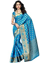 Mimosa Women's Tassar Silk Saree With Blouse Piece (179-And,Ananda,Free Size)