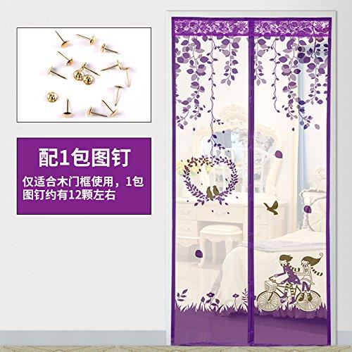 Magnetische Fliegengitter für Fenster, verschlüsselung mücke einen vorhang Zimmer vorhang schlafzimmer, wohnzimmer - isolierung der vorhang-E-90x220cm(35x87inch)