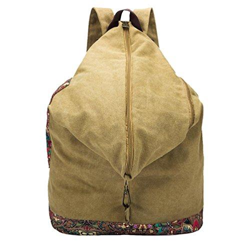 Chang Spent Women 's College di tela di canapa Personalized Travel Bag a tracolla zaino del sacchetto di(Colore facoltativo) , brown Brown