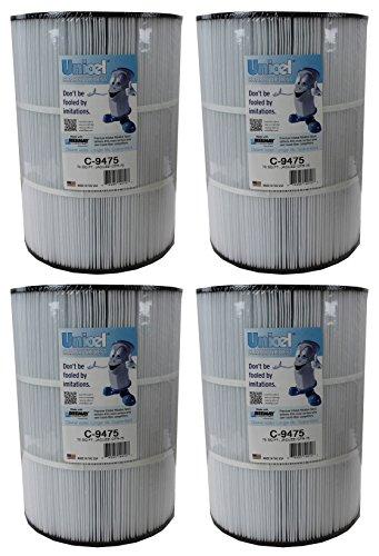 Unicel Ersatz-Filterkartusche für 75 Quadratfuß Whirlpool CFR-75 4 Pack -
