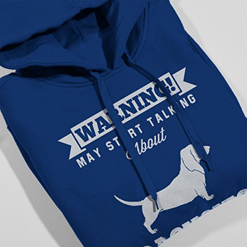 Warning May Start Talking About Dachsies Men's Hooded Sweatshirt Royal Blue