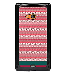 PrintDhaba Tribal pattern D-1884 Back Case Cover for MICROSOFT LUMIA 540 (Multi-Coloured)