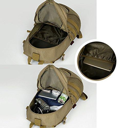 Hisea Outdoor Military Rucksäcke Nylon Stoff Rucksack Wasserdichte Taktische Assault Pack Sport Reisetasche 15L mit ergonomischen Design Anzüge für Camping Jagd Trekking Reisen Tarnung
