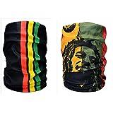 Noise NOIHWPCMB030 13-in-1 Bolivian Print and Bob Marley Multifuntional Polyester Bandana, Free Size (Yellow)
