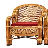 H M Services Bamboo Cane Living Room Chair (Brown) Amazon Rs. 4500.00