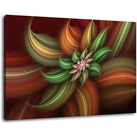 Abstract Flower Dimensioni: 60x40 cm Immagine infilate su tela, immagini enormi XXL completamente finito e incorniciate con barella, incorniciatura sulla foto parete con cornice, più conveniente che la pittura o l'immagine, senza manifesti o