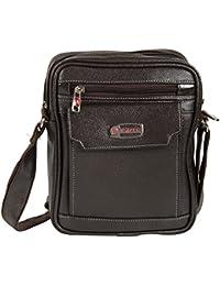 KLARK Unisex Sling Bag (Brown, FMS-972 BROWN)