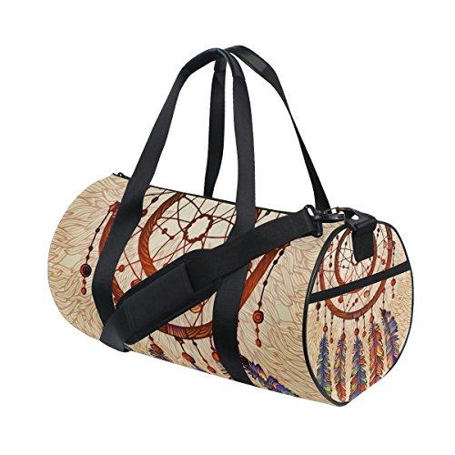 jstel Atrapasueños con plumas gemas bolsa de deporte gimnasio para hombres y mujeres bolsa de viaje de viaje