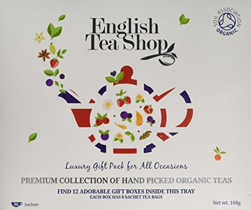 English Tea Shop Organic Luxury Gift Tray Tea Bags, Pack of 96