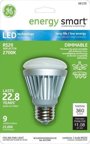 GE LIGHTING 66150Energy Smart LED 9Watt (36-watt Ersatz) 360-lumen R20Flutlicht Leuchtmittel mit Medium Base, 1er Pack von GE Lighting -