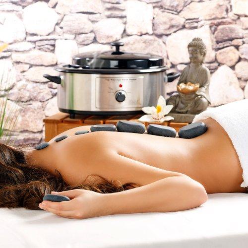 newgen medicals Hot Stone Massage: Professionelles Hot-Stone-Set: Wärmegerät & 23 Steine (Heisse Steine) - Bild 5