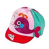 Wicemoon Niños Niñas Sombrero de Pescado de Dibujos Animados Lindo Sombrero de Sol Gorra de Béisbol(Rosa)