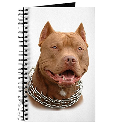 CafePress–Pitbull Hochformat–Spiralbindung Journal Notebook, persönliches Tagebuch, Dot Grid (Bully Pit Bull)