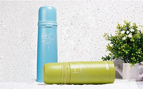 WYXlink Isolierung Tasse Edelstahl Vakuum Tee Tasse Wasser Flasche 500ml (blau) Grün