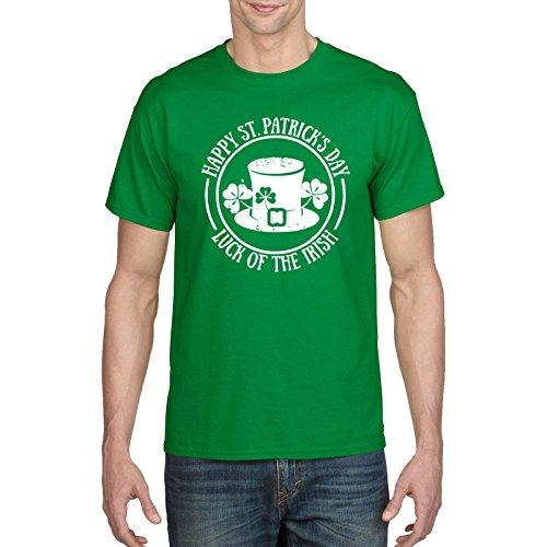 FunkyShirt Happy ST Patricks Day Luck Of The Irish Shirt, Funny Ireland T-Shirt Green Drunk Top Tee Mens and Womens
