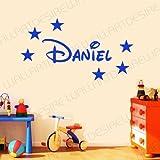 Wall Art Desire Sticker mural en vinyle à personnaliser pour chambre d'enfant Étoiles et prénom style Disney...