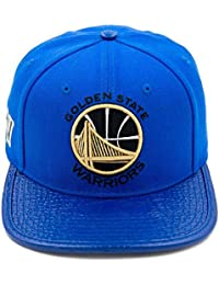 Pro Standard Men s NBA Golden State Warriors LTHR Buckle Hat Royal Blue  W Pin bcac3cca1616