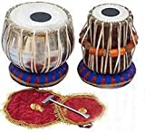 Makan Professional Wooden Indian Musical Instrument Bayan Tabla, Dayan Tabla Percussion Musical Instrument with Carry Bag & Cushion