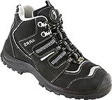 BAAK scarpe alte di sicurezza Philipp Sports S3ESD, lavoro scarpe stivali con lacci taglia 49, colore: nero, 7304