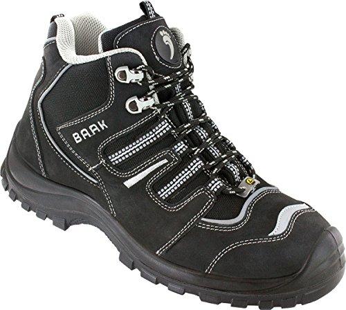 Preisvergleich Produktbild BAAK Sicherheitshochschuhe Philipp Sports S3 ESD, Arbeitsschuhe Schnürstiefel Größe 49, schwarz, 7304