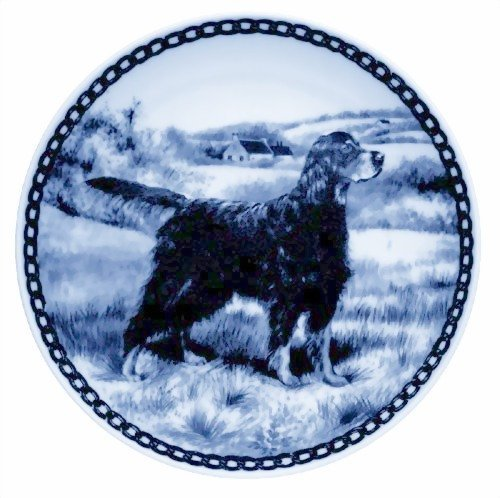 gordon-setter-danish-blue-porcelain-plate-by-lekven