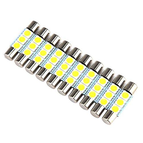 sharplace 10x Weiß 50503SMD PREMIUM QUALITAET–NEU-28–31mm LED Birne für Auto Visier Kosmetikspiegel Dome Light