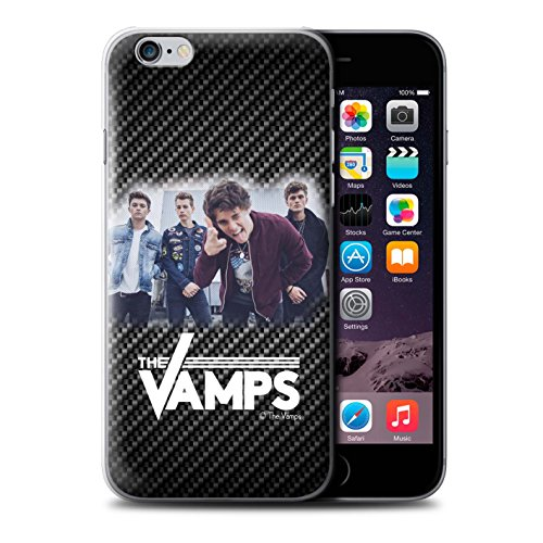 Offiziell The Vamps Hülle / Case für Apple iPhone 6+/Plus 5.5 / Pack 6pcs Muster / The Vamps Fotoshoot Kollektion Kohlenstoff