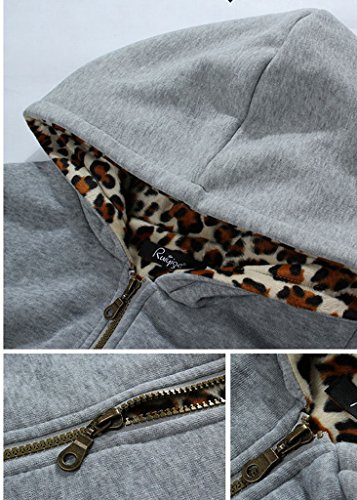 Smile YKK Sweat-shirt à Capuche Femme Coton Manteau Veste Manches Longues Automne Hiver Jaune