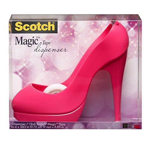 fondant high heel Scotch PShoe810 Handabroller in Schuh-Form (inkl. 1 Rolle Klebeband, 8.9m x 19m) rosa