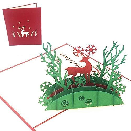 Polysky 3D-Karte, Pop-up-Karte für die Weihnachten, hochzeit,Valentinstag-Karte, Romantik-Karte, Hochzeitstag Karte, Hochzeitskarte (2)