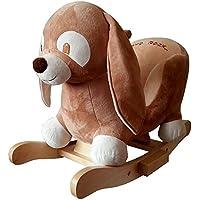 Preisvergleich für Plüsch Schaukeltier Hase Robin mit Musikfunktion Kufen aus Holz ab 18 Monate