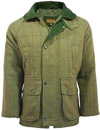 Mens Tweed Jacket Quilted Coat