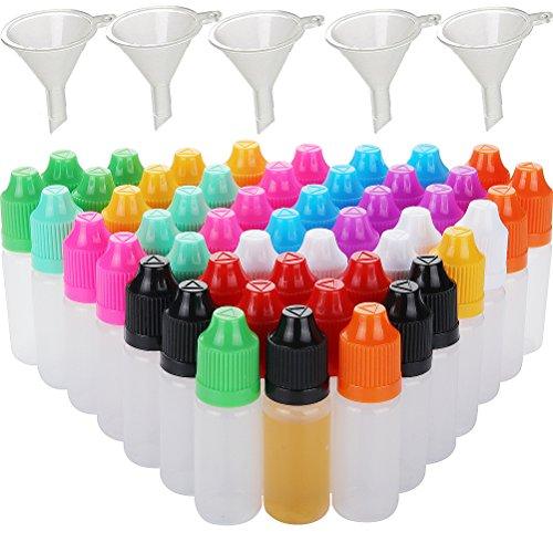 5pcs 10ML/20ML/30ML/50ML/100ML/Dropper Squeezable Bottiglia Eye liquido contagocce a punta d'ago con Loop (5pcs 100ML)