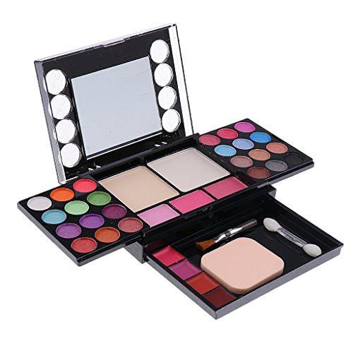 Sharplace Kit Palette Maquillage 37 Couleurs Fard à Paupières Rouge à Lèvres Blush Fondation Fond de Teint Set