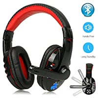 ANYIKE Wireless Gaming Headset with Mic Headphones, Surround Sound & HD Microphone, for PC Laptop PS4 Xbox One