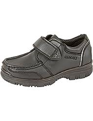 Marca para niños pequeños muchachos en latón Single Velcro School para botas