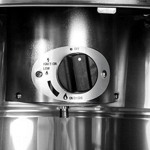 Ultranatura Edelstahl Gas-Heizstrahler GH-12 – Terrassenheizung regelbar bis 12 KW; - 7
