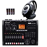 Zoom R-8 HD Recorder Interface Sampler+ 4x AA Batterien + Keepdrum Kopfhörer