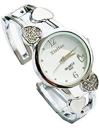 ufengke® mädchen stahlrhinestoneherzband armband armbanduhren damen runden zifferblatt kleid armbanduhren-weiß