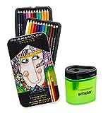 Prismacolor Premier doux Core crayon de couleur, Lot de 24couleurs assorties (3597t) + Taille crayon de couleur Prismacolor Scholar (1774266)