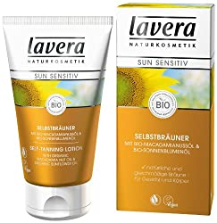 Natürliche & gleichmäßige Bräune   Für Gesicht & Körper   lavera Sun sensitiv Selbstbräuner schenkt eine natürliche, gleichmäßige und hautgesunde Bräune – das ganze Jahr. Mit 100% pflanzlichen Selbstbräunungs-Wirkstoffen auf Zuckerbasis – ...