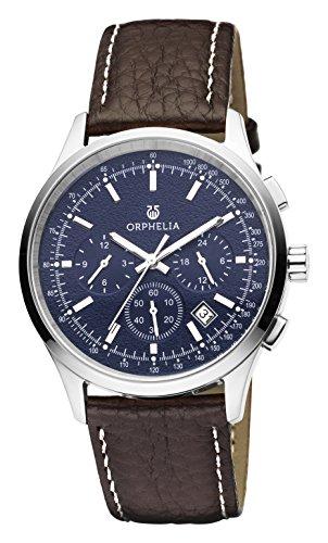 Orphelia Herren-Armbanduhr 24h Dual Time Quarz Leder (Reden Sie Datum Und Zeit, Uhr)