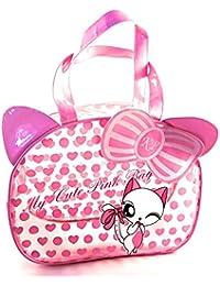b48aaa791 Kennedy Playsets Kids Bag Bright Pink and Blue Handbag for Girls Swimming  PVC Beach