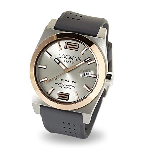 Men's Steel watch Ref. 205Stealth Automatic 02050rgyf5N0sia–Locman