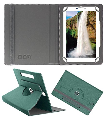 Acm Designer Rotating Leather Flip Case for Champion Bsnl 709 Cover Stand Turquoise  available at amazon for Rs.169