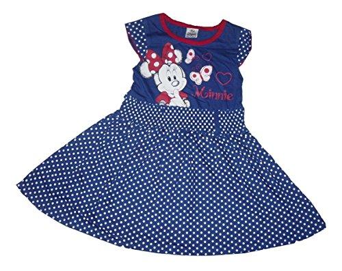 Kleider-Mädchen Kostüm Disney Offizielles Lizenzprodukt Minnie Mouse Maus-Blau, blau  18-24 Monate (Minnie Maus 18 Monate-kostüm)