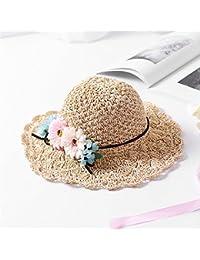 Fashion cap Sombrero de Paja Crochet Mano Femenina Sombrero de Playa Grande  Playa Flor Sombrero de 9143e451e11
