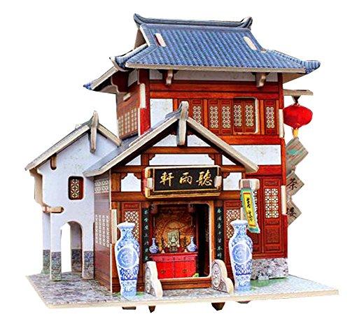 Blancho [Chinesisches Restaurant] 3D Puzzle Papiermodell Zusammengebaute Kabine Haus Spielzeug Diy