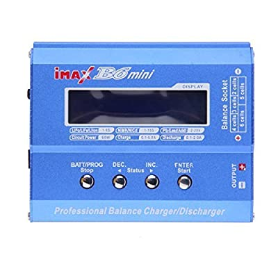 B6 Mini Professional Balance Charger Discharger for RC Battery Charging plastic blue, by LC Prime