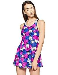 2cd8c3aa13 Speedo Female Swimwear Af All Over Print Racerback Swimdress with Boyleg